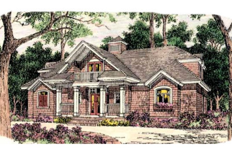 Southern Exterior - Front Elevation Plan #406-262