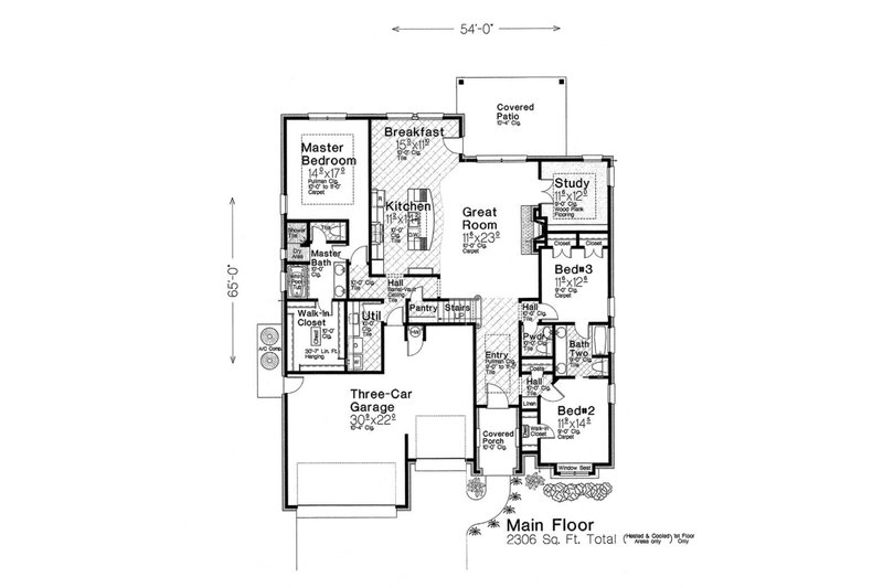 European Floor Plan - Main Floor Plan Plan #310-1283