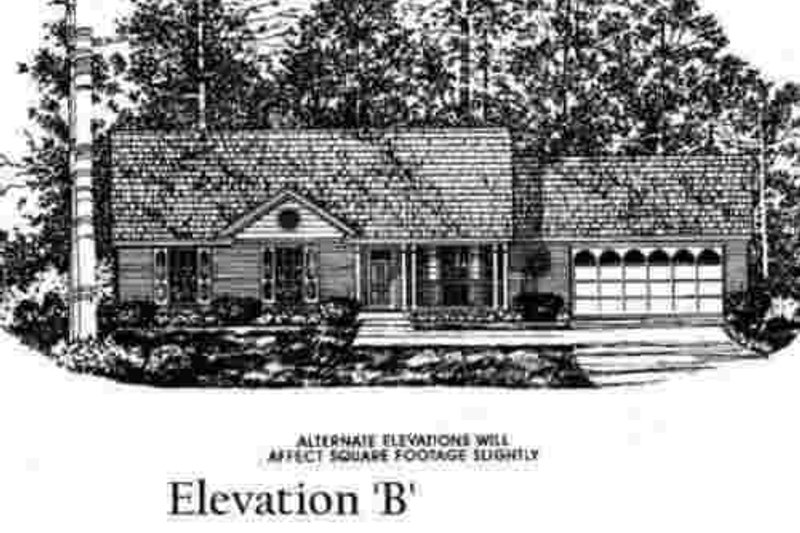 Traditional Exterior - Other Elevation Plan #40-251 - Houseplans.com