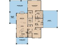 Craftsman Floor Plan - Main Floor Plan Plan #923-4