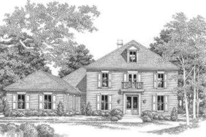 Southern Exterior - Front Elevation Plan #325-237