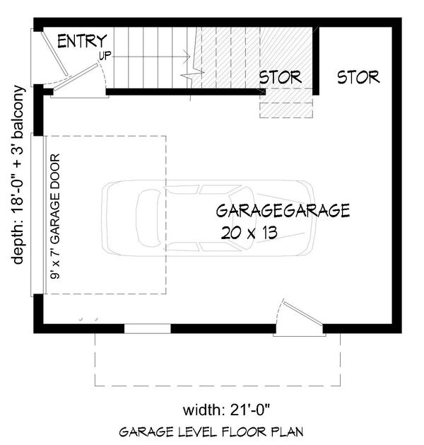 Contemporary Floor Plan - Main Floor Plan Plan #932-177