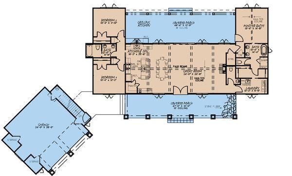 Dream House Plan - Farmhouse Floor Plan - Main Floor Plan #923-170