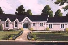Dream House Plan - Ranch Exterior - Front Elevation Plan #3-146