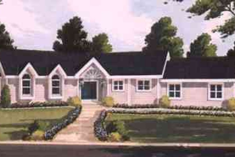 Ranch Exterior - Front Elevation Plan #3-146