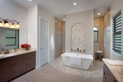 Mediterranean Style House Plan - 4 Beds 3 Baths 2953 Sq/Ft Plan #938-90 Interior - Master Bathroom