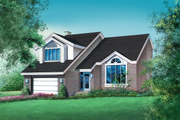 Traditional Style House Plan - 3 Beds 2.5 Baths 2299 Sq/Ft Plan #25-2111 Exterior - Front Elevation
