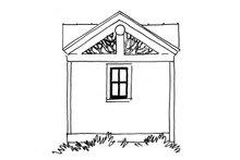 Log Exterior - Rear Elevation Plan #942-45