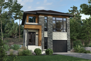 Dream House Plan - Contemporary Exterior - Front Elevation Plan #25-4873