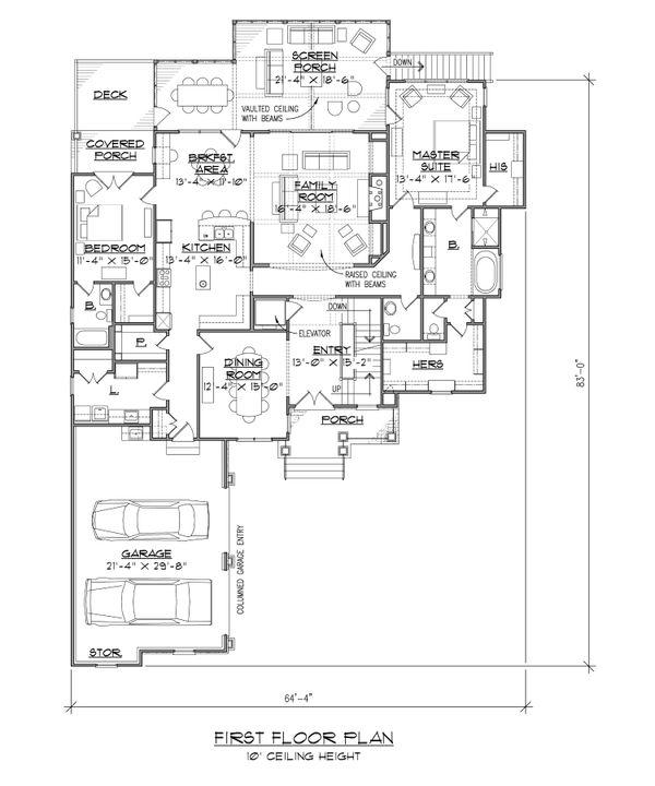 Dream House Plan - European Floor Plan - Main Floor Plan #1054-51