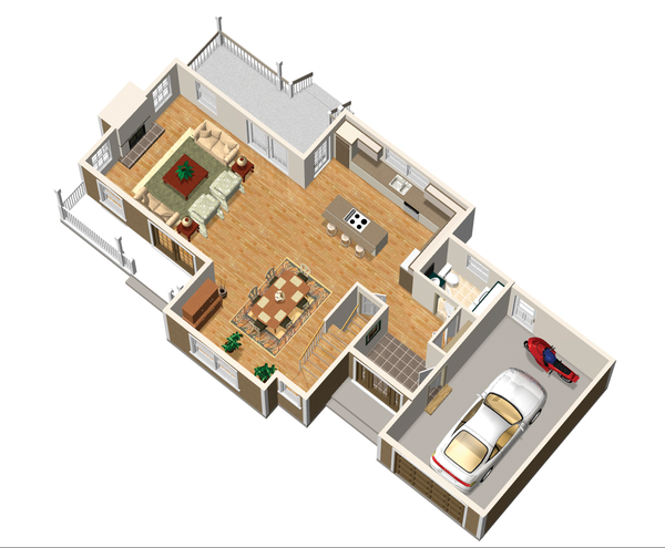 Country Floor Plan - Main Floor Plan Plan #25-4672