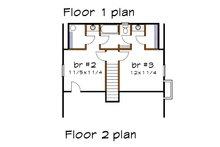 Cottage Floor Plan - Upper Floor Plan Plan #79-155