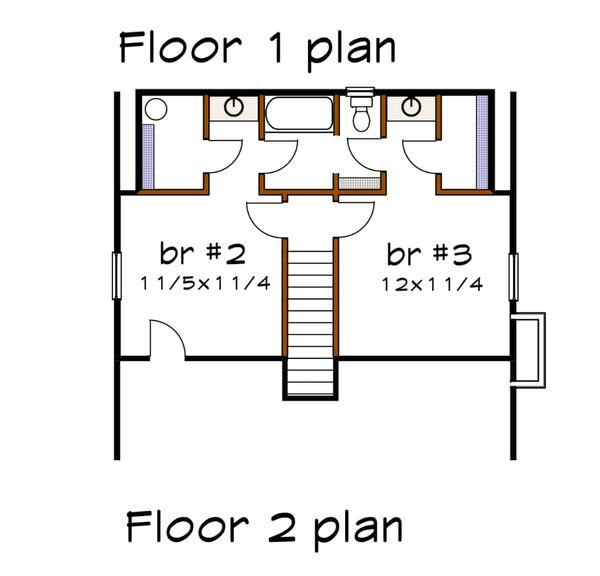 Cottage Floor Plan - Upper Floor Plan Plan #79-155