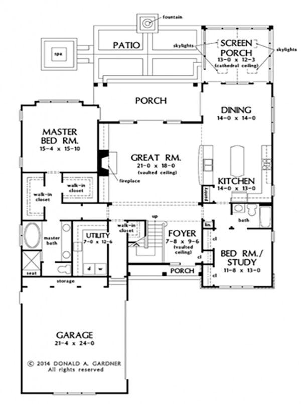 House Plan Design - Cottage Floor Plan - Main Floor Plan #929-23