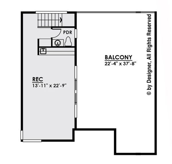 Home Plan - Third Floor