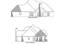 European Exterior - Rear Elevation Plan #17-2496