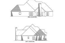 Home Plan - European Exterior - Rear Elevation Plan #17-2496