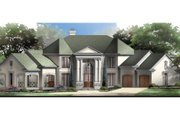 Classical Style House Plan - 4 Beds 3.5 Baths 3338 Sq/Ft Plan #119-111 Exterior - Front Elevation