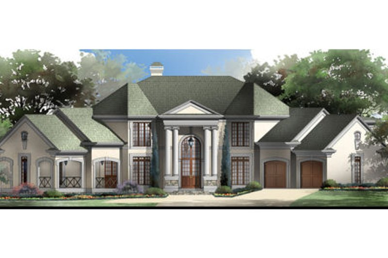 Classical Exterior - Front Elevation Plan #119-111 - Houseplans.com