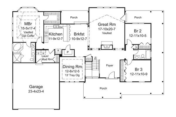 Dream House Plan - Craftsman Floor Plan - Main Floor Plan #57-648
