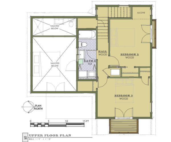Cottage Floor Plan - Upper Floor Plan #450-1