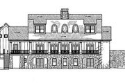 Craftsman Style House Plan - 5 Beds 4.5 Baths 2757 Sq/Ft Plan #119-248 Exterior - Rear Elevation