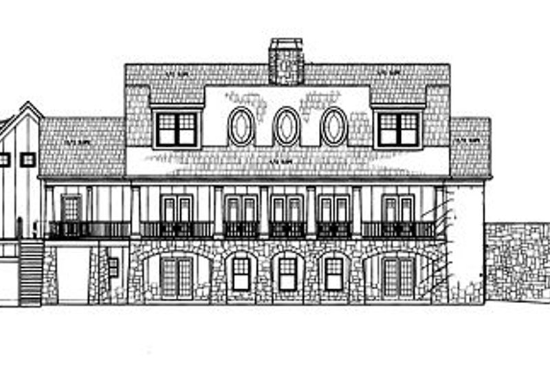 Craftsman Exterior - Rear Elevation Plan #119-248 - Houseplans.com
