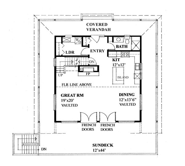 Cottage Floor Plan - Main Floor Plan Plan #118-172