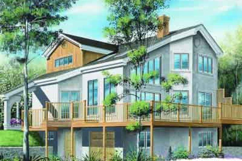 Modern Exterior - Front Elevation Plan #23-607
