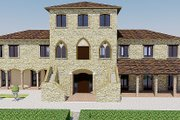 European Style House Plan - 5 Beds 7.5 Baths 6688 Sq/Ft Plan #542-9 Exterior - Front Elevation
