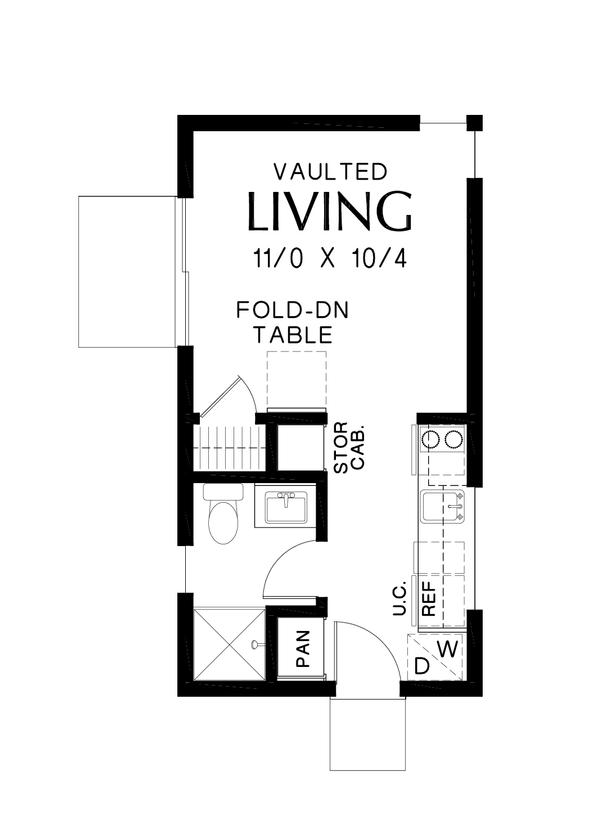 Contemporary Floor Plan - Main Floor Plan Plan #48-1024