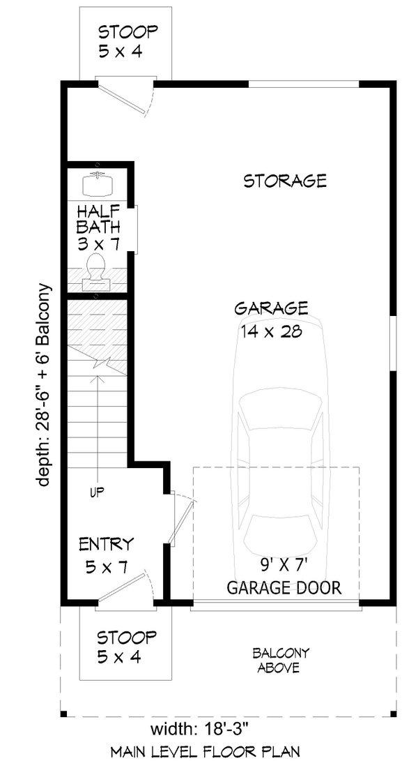 Home Plan - Contemporary Floor Plan - Main Floor Plan #932-431