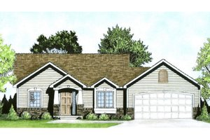 Craftsman Exterior - Front Elevation Plan #58-185