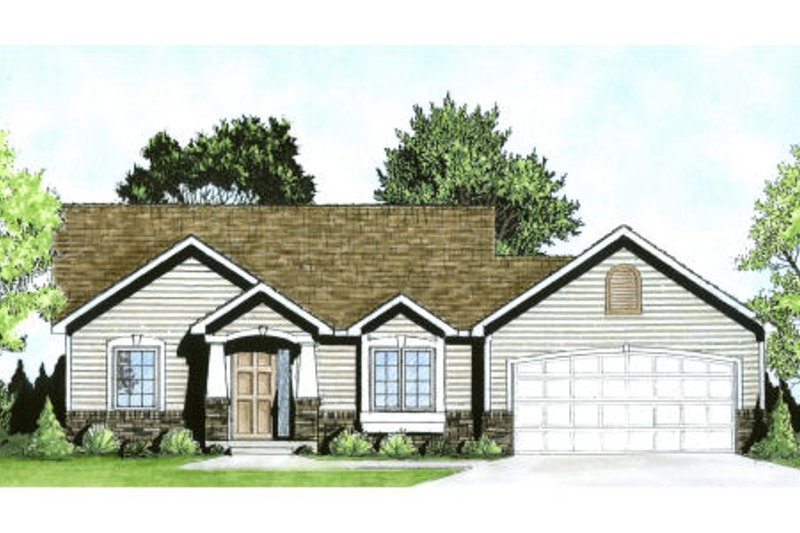 Craftsman Exterior - Front Elevation Plan #58-185