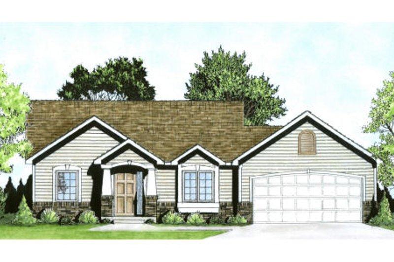 Dream House Plan - Craftsman Exterior - Front Elevation Plan #58-185
