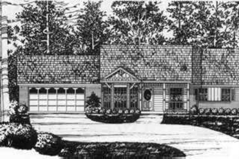Southern Exterior - Front Elevation Plan #40-344