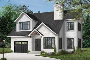 House Plan Design - Traditional Exterior - Front Elevation Plan #23-450