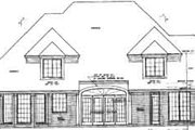 European Style House Plan - 4 Beds 3.5 Baths 3612 Sq/Ft Plan #310-207 Exterior - Rear Elevation
