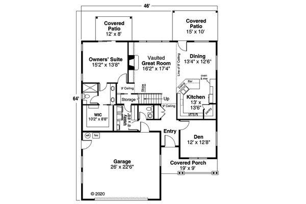 Traditional Floor Plan - Main Floor Plan #124-1190
