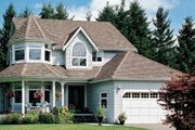 Farmhouse Style House Plan - 4 Beds 2.5 Baths 2301 Sq/Ft Plan #47-285 Exterior - Front Elevation