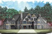 European Style House Plan - 5 Beds 6.5 Baths 8327 Sq/Ft Plan #119-226 Exterior - Front Elevation