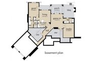 Craftsman Style House Plan - 3 Beds 2.5 Baths 2106 Sq/Ft Plan #120-175 Floor Plan - Lower Floor Plan