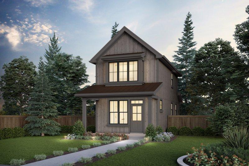House Blueprint - Contemporary Exterior - Front Elevation Plan #48-1038
