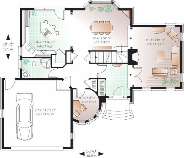 European Floor Plan - Main Floor Plan Plan #23-806