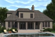 European Style House Plan - 3 Beds 3.5 Baths 2488 Sq/Ft Plan #1071-17 Exterior - Rear Elevation
