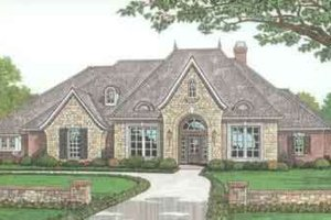 House Plan Design - European Exterior - Front Elevation Plan #310-279