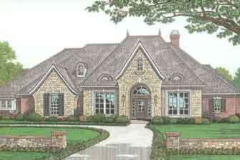 European Exterior - Front Elevation Plan #310-279