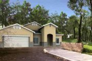 Adobe / Southwestern Style House Plan - 3 Beds 2 Baths 2284 Sq/Ft Plan #1-1170 Exterior - Front Elevation