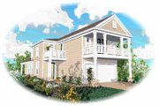 Southern Style House Plan - 3 Beds 2.5 Baths 1738 Sq/Ft Plan #81-140 Exterior - Front Elevation
