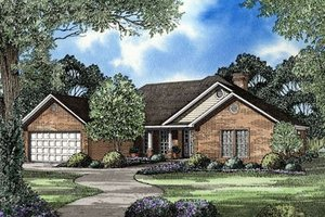 Traditional Exterior - Front Elevation Plan #17-158